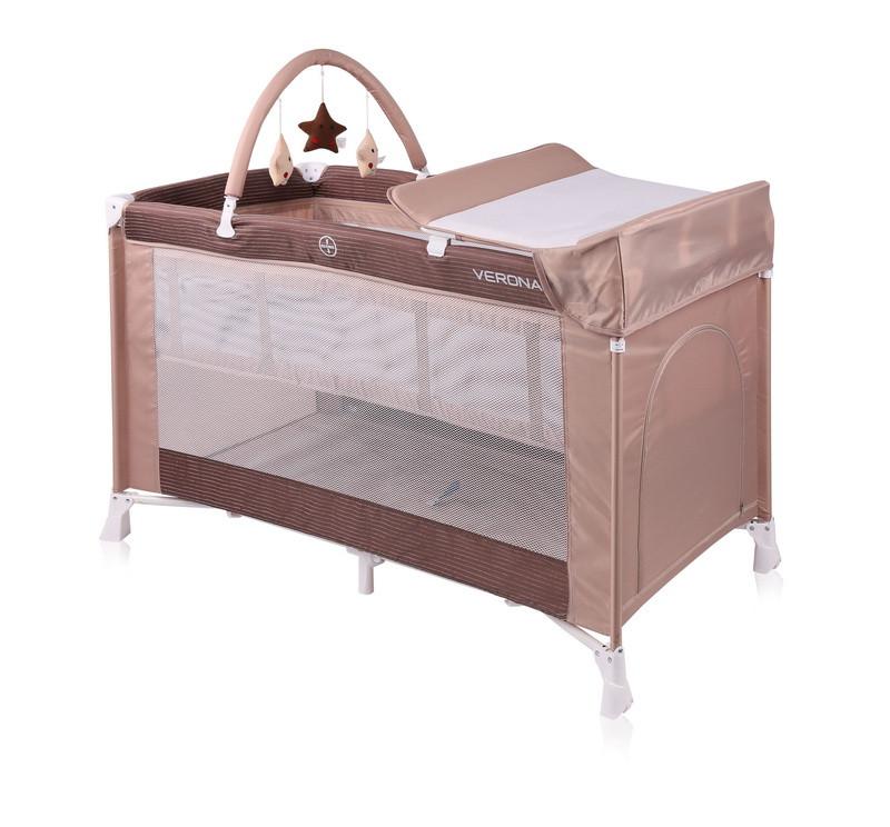 Кровать - манеж VERONA 2 LAYERS PLUS BEIGE
