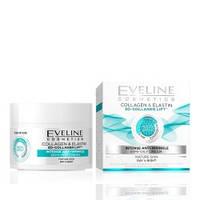 Дневной/ночной крем для лица Eveline Cosmetics Интенсивное омоложение Коллаген + Эластин 50 мл (97551)