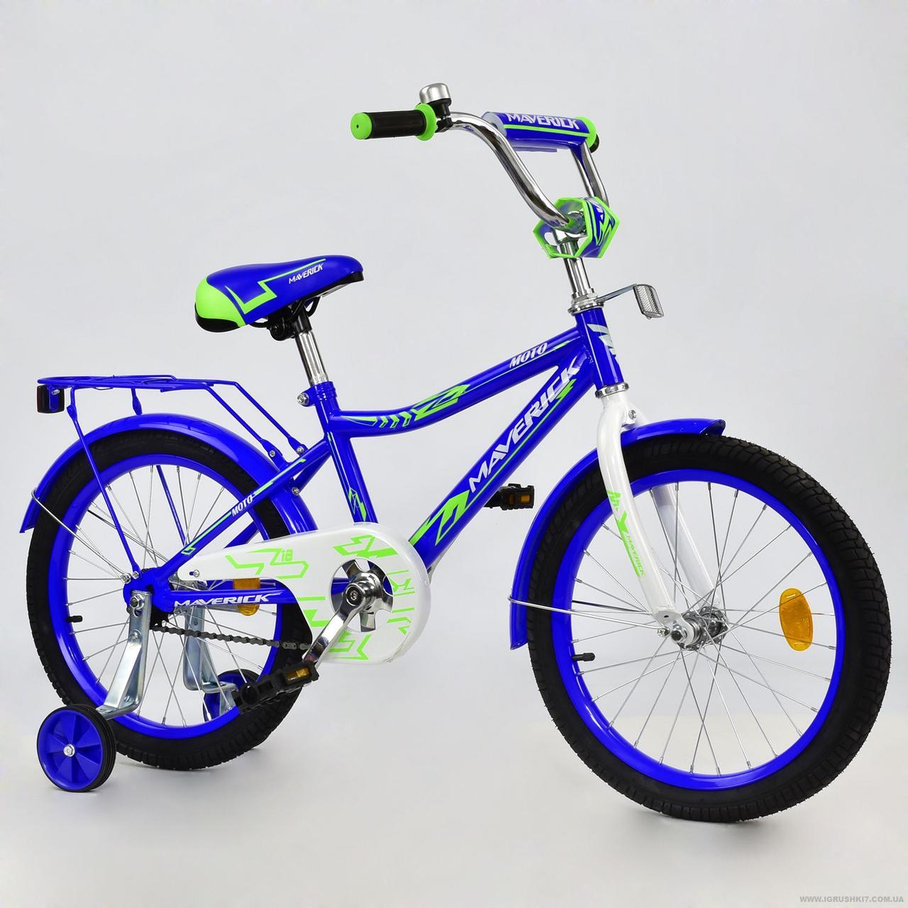 """Велосипед 2-х колёсный R 1806 """"MAVERICK"""" (1) без ручного тормоза, доп. колеса, СОБРАННЫЙ НА 75% , в коробке"""