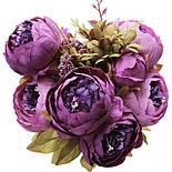 Композиция  пионов и гортензии,  48 см - фиолетовый, фото 5