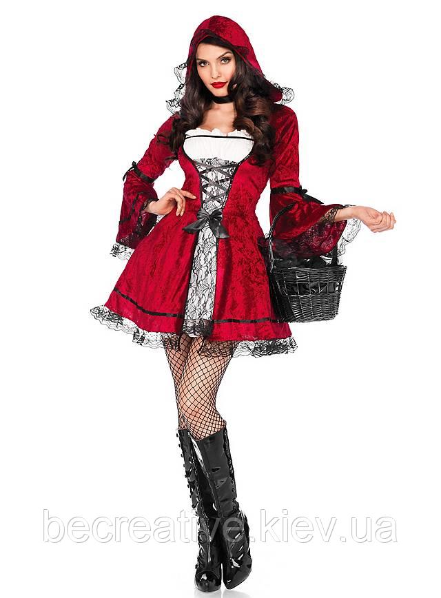 Готический карнавальный костюм Красная Шапочка