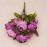 Композиция  пионов и гортензии,  48 см - фиолетовый, фото 4
