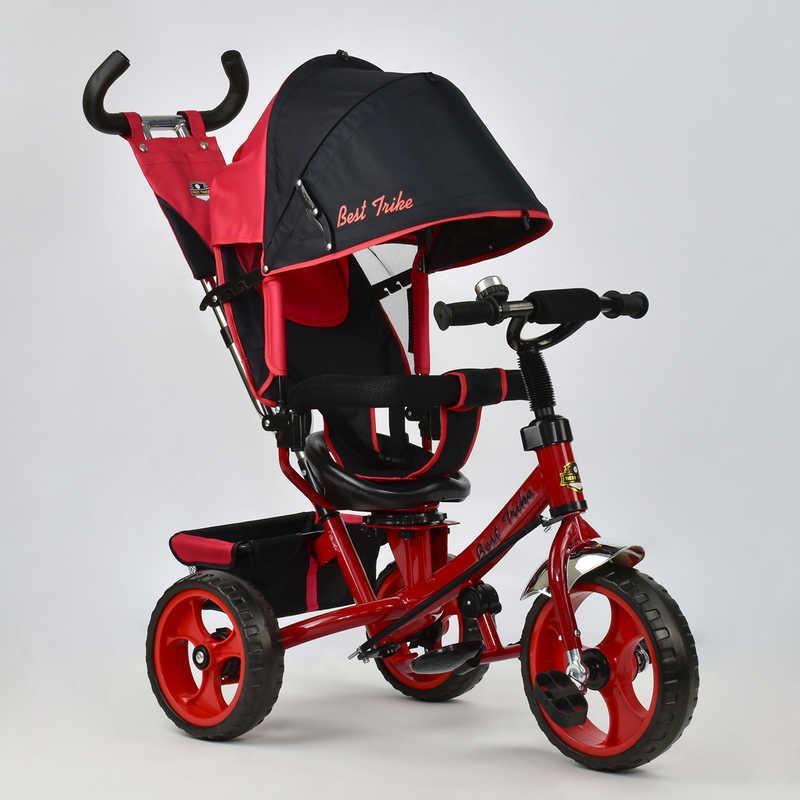 Велосипед 3-х колёс. 5700 - 4670 /КРАСНЫЙ/ Best Trike (1) ПОВОРОТНОЕ СИДЕНЬЕ, КОЛЕСА EVA (ПЕНА)