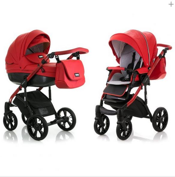 Универсальная коляска 2 в 1 mioobaby ZOOM Black Edition. RED