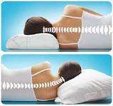 Ортопедическая подушка Андерсен Комфорт мемору с эффектом памяти 33*50*11\9 см  гипоаллергенная, фото 2