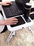 Столик-подставка для ноутбука E-Table с платформой для мышки и двумя кулерами для охлаждения, фото 3