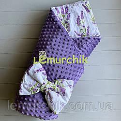 Конверт-одеяло минки на съемном синтепоне фиолетовый Лаванда
