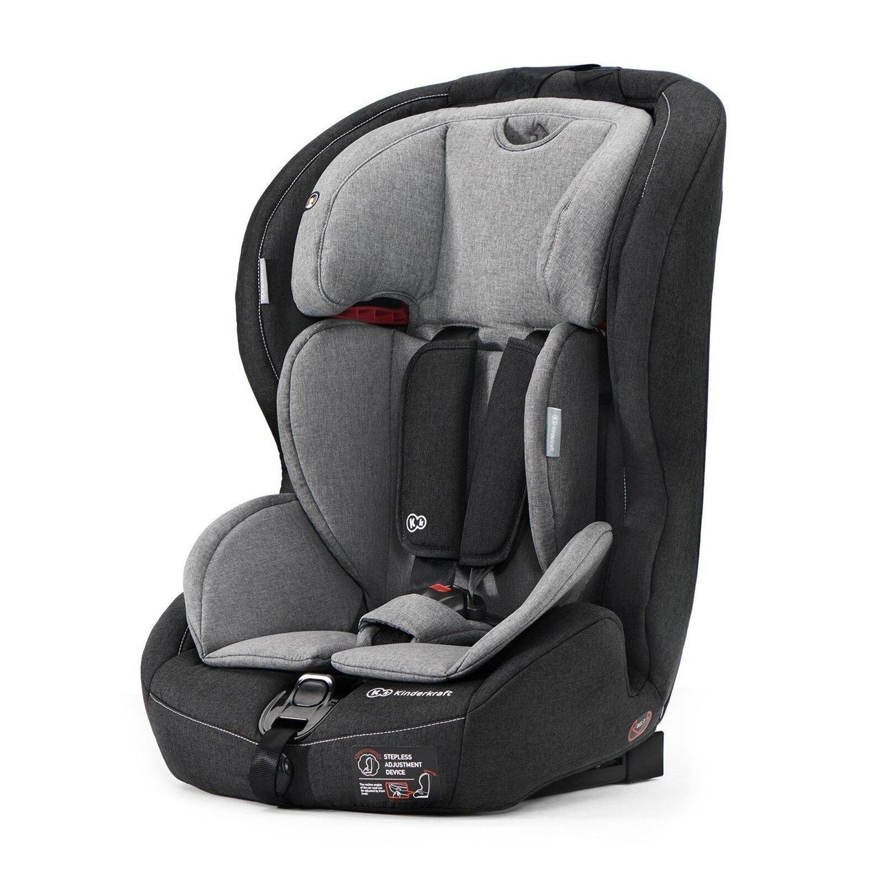 Автокресло Kinderkraft Safety Fix Black/Gray
