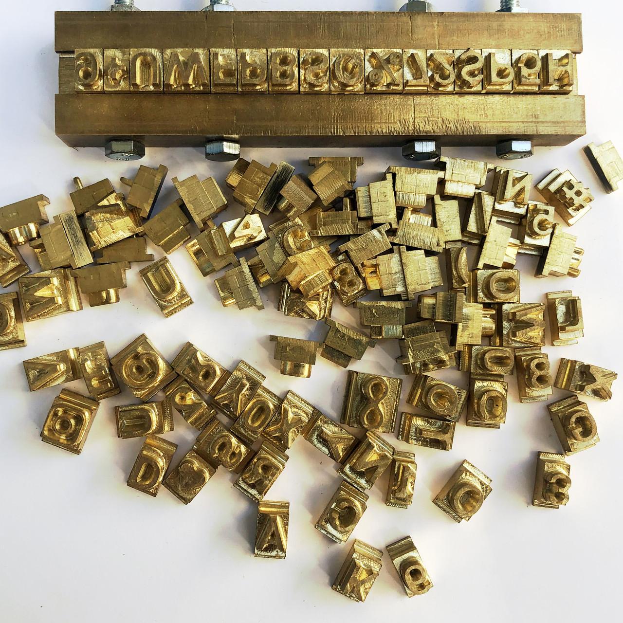 Наборной штамп алфавит из латуни