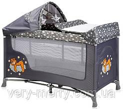 Кровать-манеж Lorelli San Remo 2 Layers Plus (серый цвет)