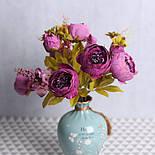 Композиция  пионов и гортензии,  48 см - фиолетовый, фото 2