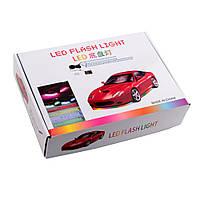 Универсальная уличная автоподсветка day led flash light 90*120, Авто светодиодные лампы с регулируемым звуком