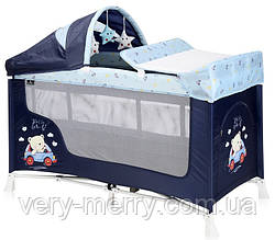 Кровать-манеж Lorelli San Remo 2 Layers Plus (синий цвет)