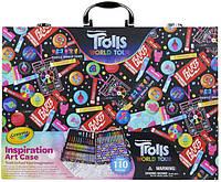 Crayola Набор в чемодане 110 предм. Тролли скрапбукинг кейс 04-0912 Trolls World Tour Inspiration Art Case