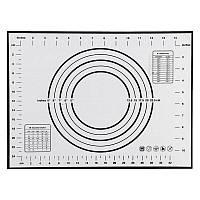 Силиконовый коврик для теста Tammy 60 х 40 см черный (KT-17563)