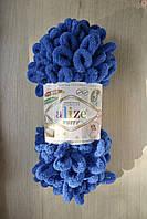 Плюшева пряжа Alize Puffy, синій, 141
