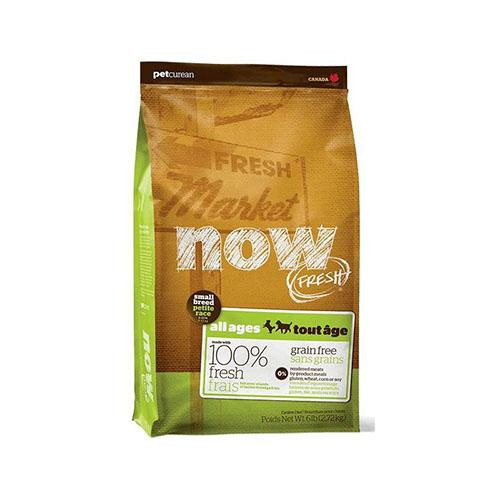 Беззерновой корм NOW Fresh Small Breed для взрослых собак малых пород, с индейкой, уткой и лососем, 11,34 кг