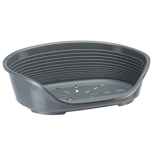 Пластиковий лежак з антиковзаючим покриттям Ferplast Siesta Deluxe 2 Grey, 49x36x17,5 см