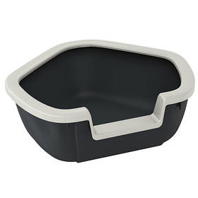 Кутовий відкритий туалет Ferplast Litter Tray Dama для кішок, 57,5x51,5x42 см