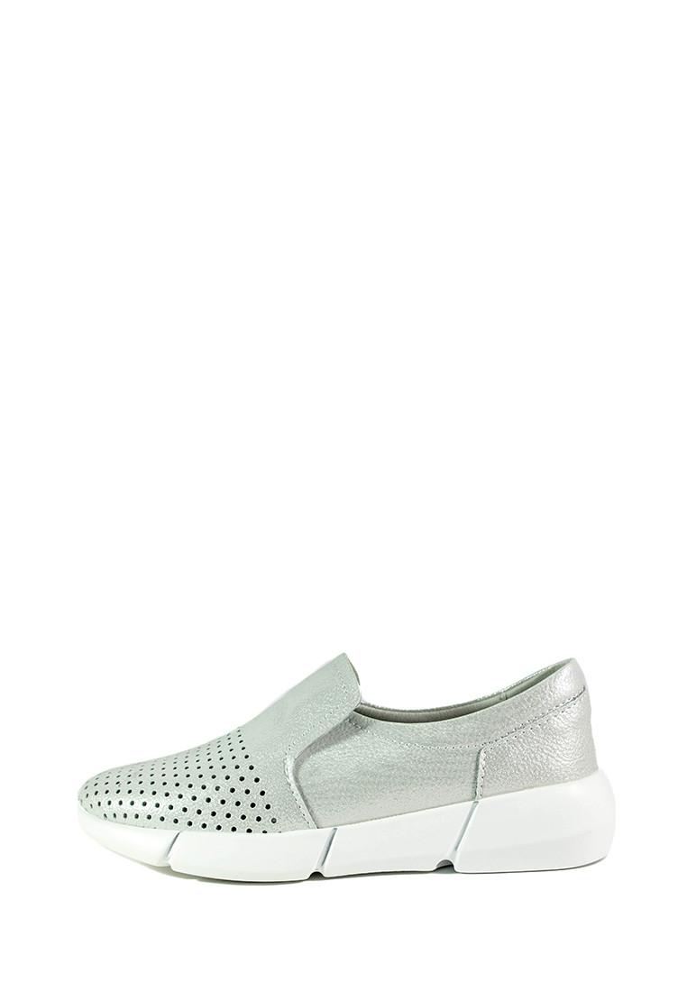 Мокасины женские Allshoes СФ XL-1013 серебряные (38)