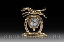Часы настольные VIRTUS HORSESHOE 16 x 14 см 880 гр Золотистый