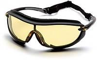 Спортивні окуляри закритого типу Pyramex XS3 Plus Anti-Fog, жовті