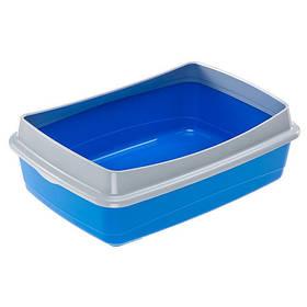 Открытый туалет Ferplast Litter Tray NIP PLUS 20 для кошек с фиксатором гигиенического мешка, 55x40x17,5 см