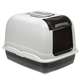 Туалет со съемной крышкой Ferplast Toilet Home Maxi Bella Cabrio для больших кошек, 55,5x65,5x47 см