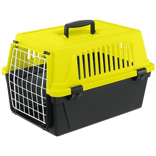 Переноска Ferplast Carrier Atlas 10 Neon для собак та дрібних собак, жовто-чорна, 48×29×32.5 см