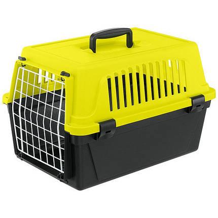 Переноска Ferplast Carrier Atlas 10 Neon для собак та дрібних собак, жовто-чорна, 48×29×32.5 см, фото 2