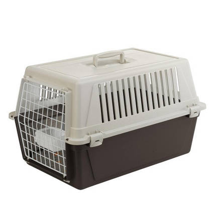 Переноска Ferplast Carrier Atlas 30 для кошек и собак, бело-коричневая, 60×40×38 см, фото 2