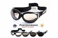 Спортивные очки закрытого типа Global Vision Eliminator фотохромные прозрачные, фото 1