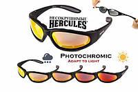 Спортивні окуляри Global Vision Hercules-1 PLUS Anti-Fog, фотохромні дзеркальні червоні