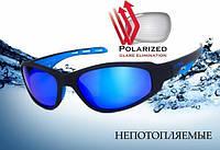 Спортивні сонцезахисні окуляри Global Vision Buoyant-2 з синіми дзеркальними лінзами