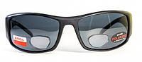 Поляризаційні окуляри BluWater Bifocal-1(+2.0) чорні, фото 1
