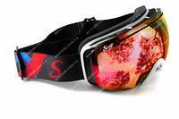 Лижна маска Swag Pipe Vision дзеркальні червоні лінзи