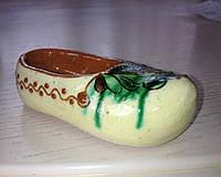 "Маленький глиняний черевичок ""Постолик"" ручної роботи"
