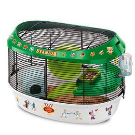 Клетка Ferplast Cage Stadium Black для хомяков с цветными наклейками