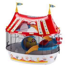 Клетка Ferplast Cage circus Fun Black для хомяков с цветными наклейками