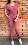 Костюм женский летний Размер 42-44,46-48,50-52,54-56 Цвет серый, терракот, голубой, фото 2