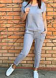 Костюм женский летний Размер 42-44,46-48,50-52,54-56 Цвет серый, терракот, голубой, фото 3