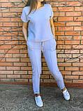 Костюм женский летний Размер 42-44,46-48,50-52,54-56 Цвет серый, терракот, голубой, фото 5
