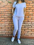 Костюм женский летний Размер 42-44,46-48,50-52,54-56 Цвет серый, терракот, голубой, фото 4