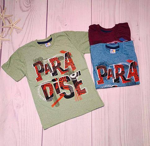 Детская футболка для мальчика р. 6-10 лет, фото 2
