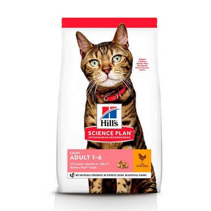 Сухий корм Hills Science Plan Adult Light для кішок з куркою, 3 кг, фото 2
