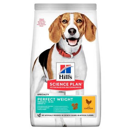 Сухой корм Hill`s Science Plan Adult Perfect Weight Medium для собак с курицей, 12 кг, фото 2