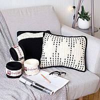 Декоративные диванные вязаные подушки — комплект из 2-х шт. Ручная работа — трикотажная пряжа Бобилон