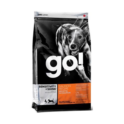 Сухой корм GO! Sensitivity + Shine Salmon Dog для щенков и взрослых собак, с лососем и овсянкой, 2,72 кг