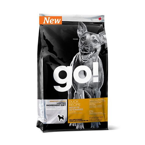 Беззерновой корм GO! Sensitivity + Shine Duck Dog для щенков и взрослых собак, с цельной уткой, 100 г