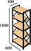 Стеллаж Ромбо 5 полок Металл-дизайн, фото 6
